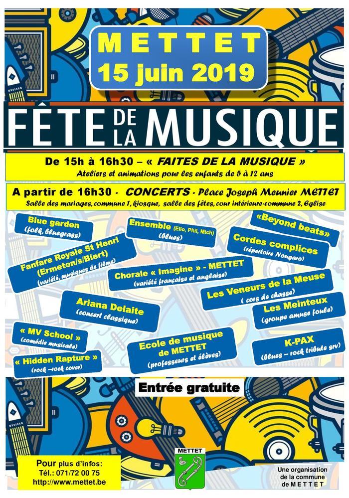 Fête de la musique 2019 - Mettet fête la musique ! 15 Juin