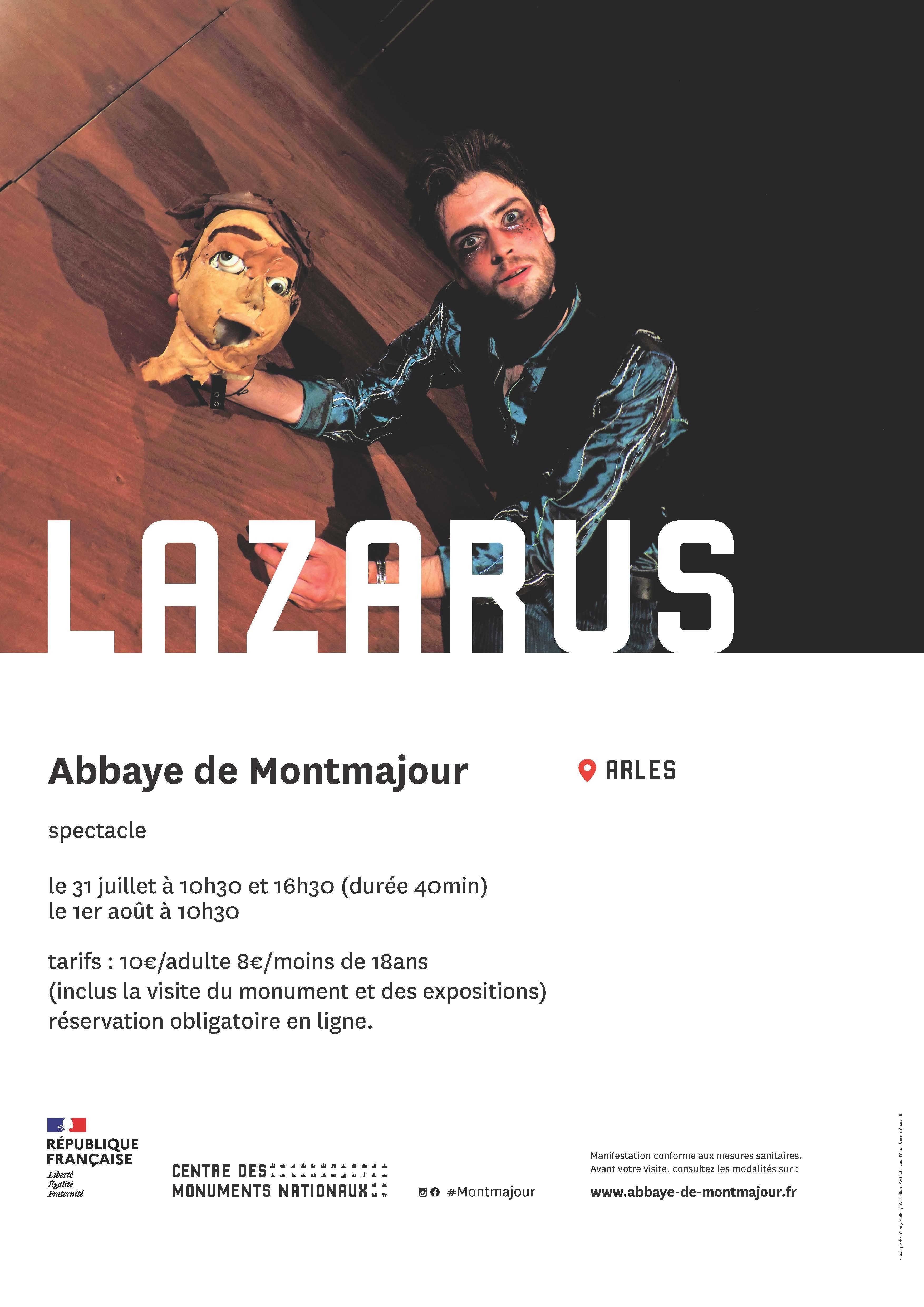 Les 31 juillet et 1er aout, l'abbaye de Montmajour vous invite à venir assister au spectacle « Lazarus » de la compagnie les chevaliers d'industrie.
