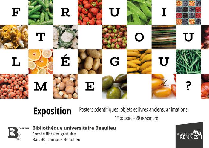 2021 est l'année internationale des fruits et légumes. À cette occasion, la BU Beaulieu vous propose l'exposition «Fruit ou légume?»