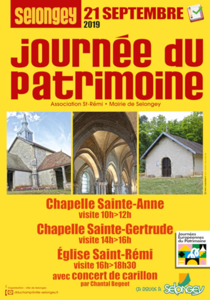 Journées du patrimoine 2019 - Découverte des édifices religieux de Selongey
