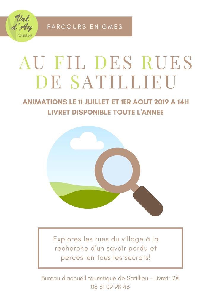 Journées du patrimoine 2019 - Au fil des rues de Satillieu
