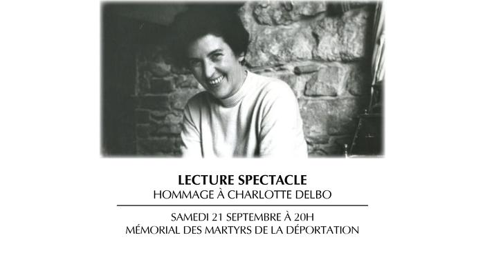 Journées du patrimoine 2019 - Hommage à Charlotte Delbo | Lecture spectacle