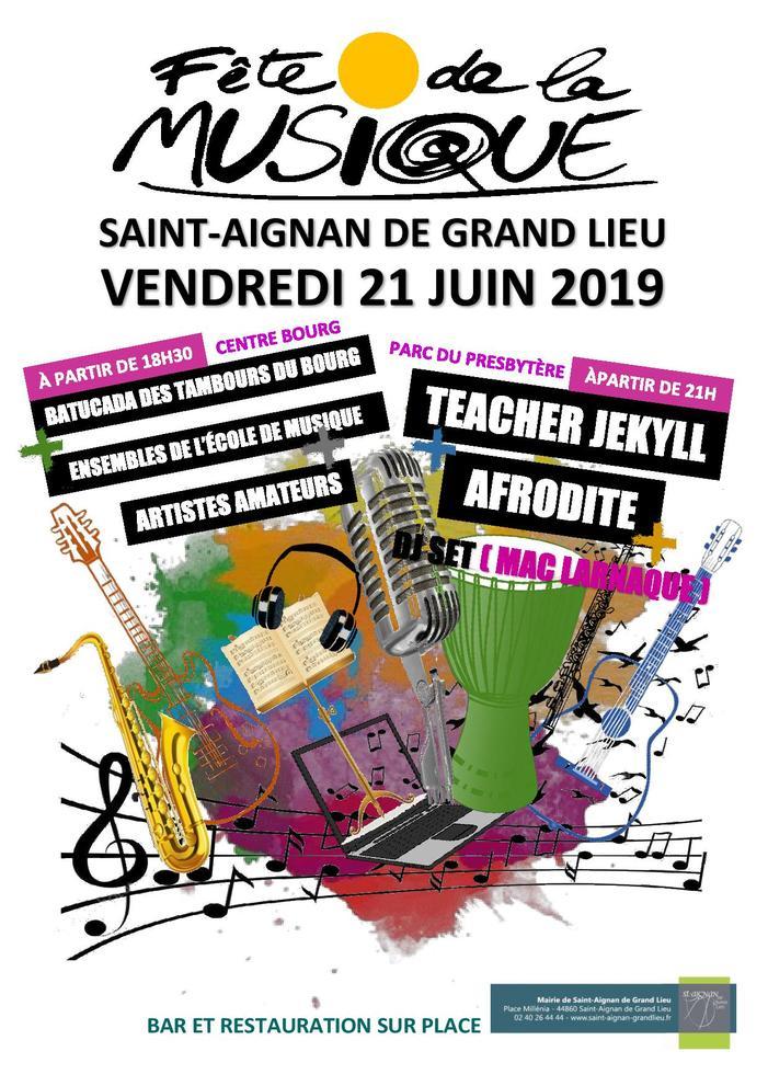 Fête de la musique 2019 - Faites de la Musique à Saint-Aignan de Grand Lieu