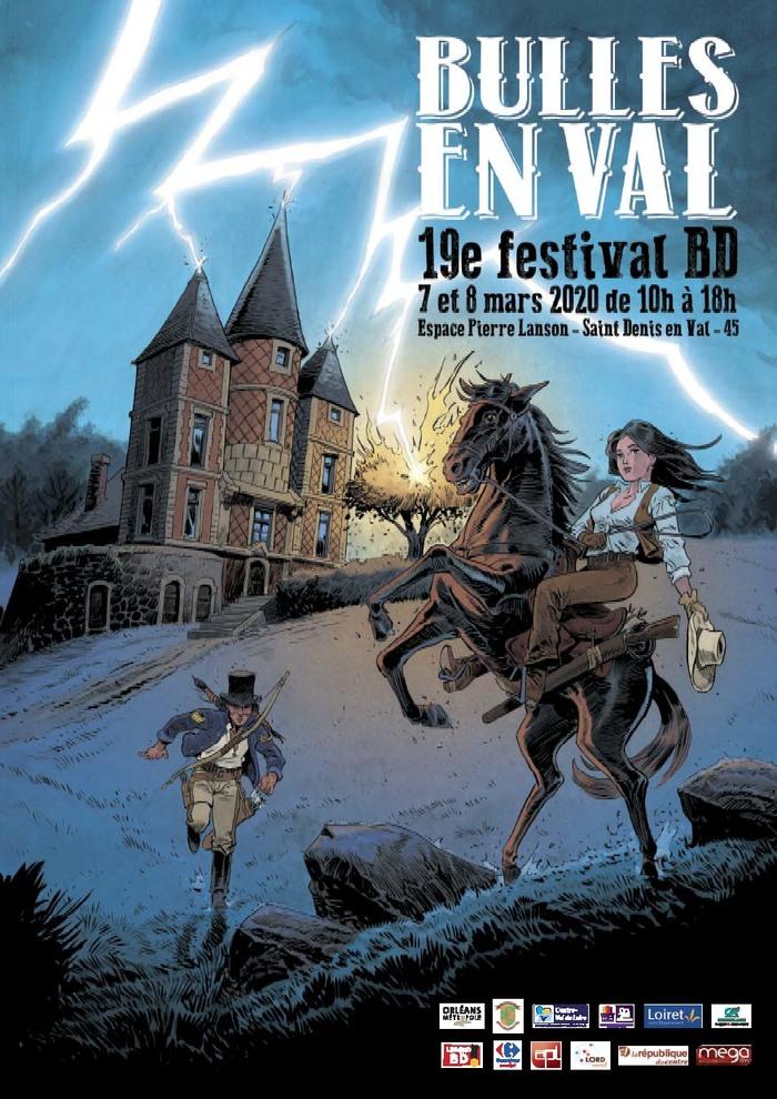 """19th """"Bulles en Val"""" festival, a must-see comic strip festival in Orléanais. 50 auteurs, divers stands, librairie BD, bouquinistes, édition indépendante fanzine, albums neuf et d'occasion"""