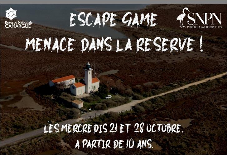 Un jeu d'enquête à faire en 60 minutes pour sauver la Réserve de Camargue d'un danger immédiat. Prêt à relever le défi ?