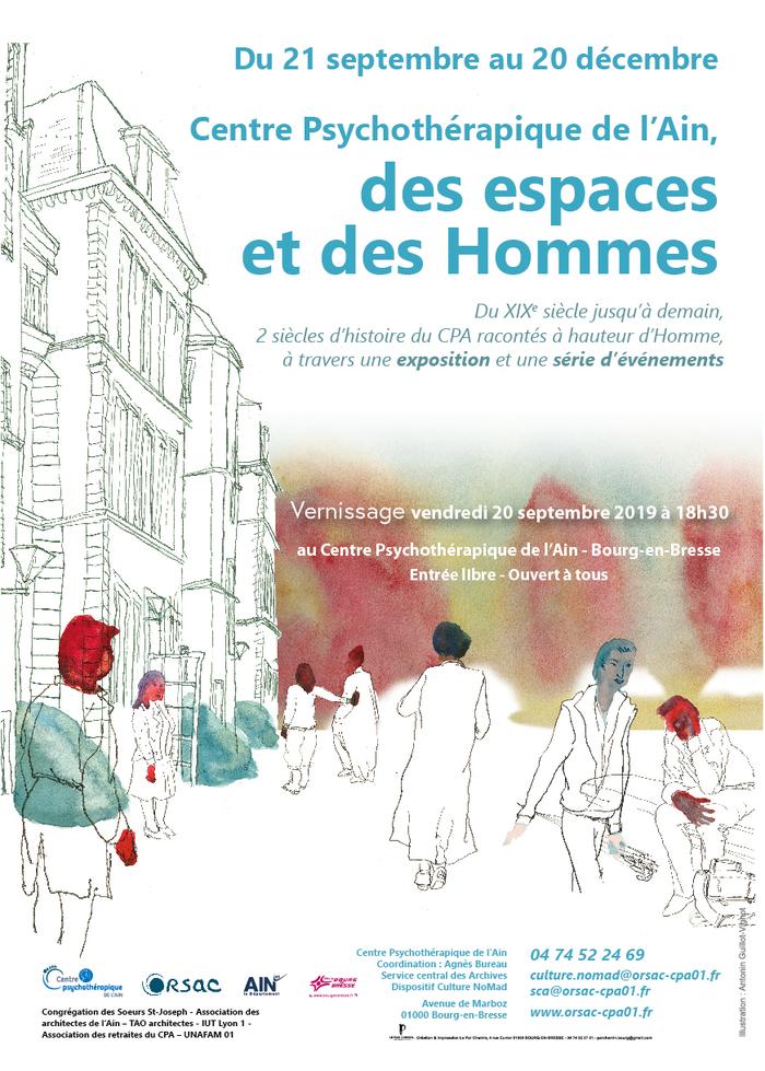 Journées du patrimoine 2019 - Inauguration de l'exposition « Le centre psychothérapique de l'Ain, des espaces et des Hommes »
