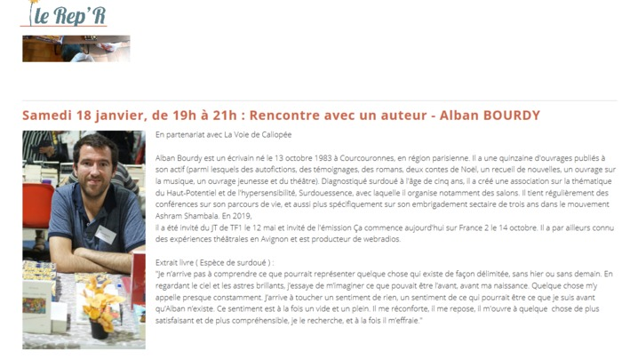 Rencontre avec Alban Bourdy