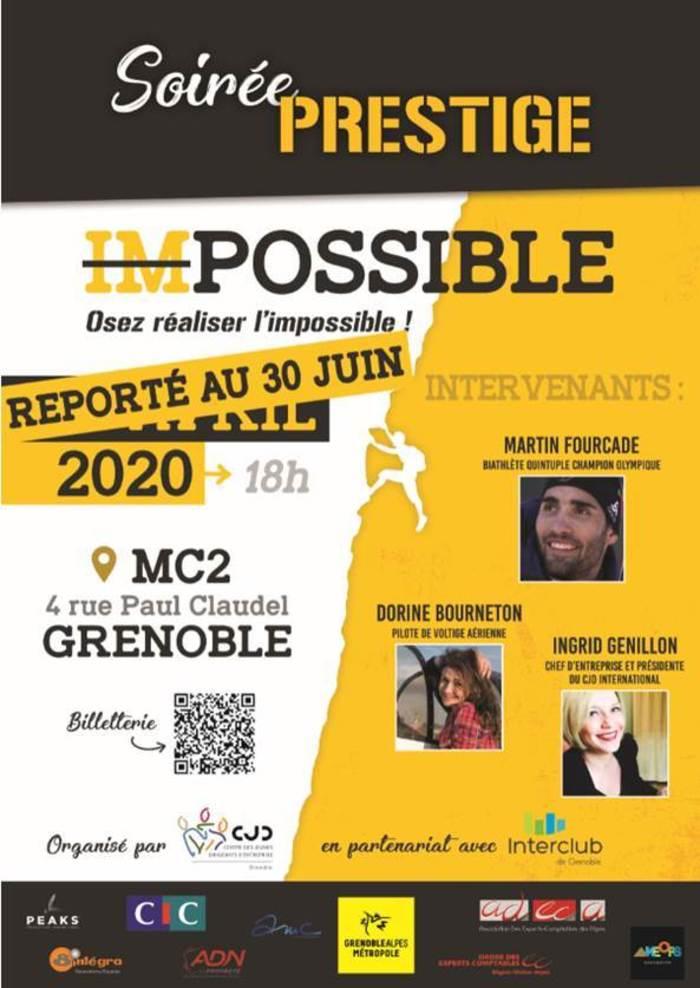 Nouvelle date 30 Juin - soirée CJD à ne pas rater - réaliser l'impossible, avec Martin Fourcade