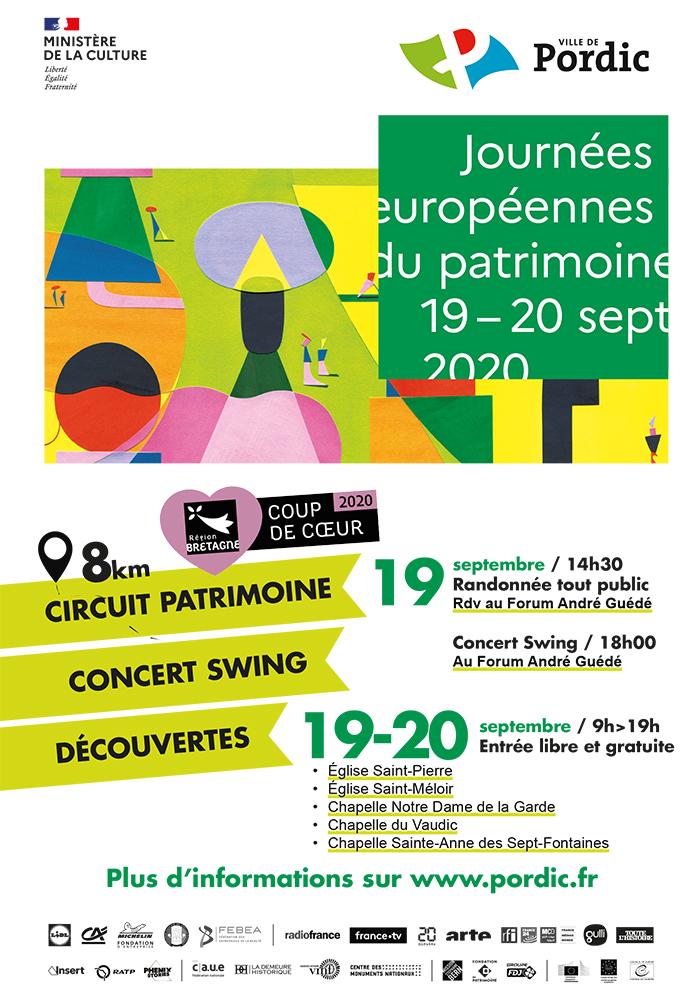 Journées du patrimoine 2020 - Circuit à la découverte du patrimoine Pordicais