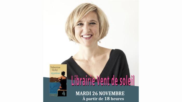 """Rencontre littéraire avec Valentine Goby à l'occasion de la parution de """"Murène"""", aux Éditions Actes Sud."""