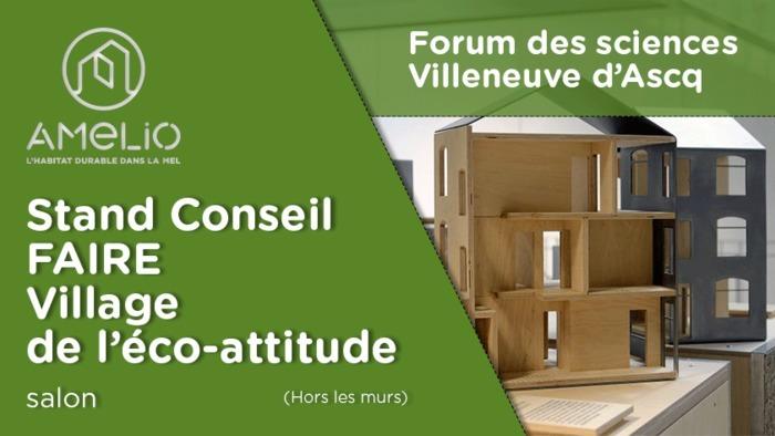 Stand conseiller Faire au village de l'éco-attitude