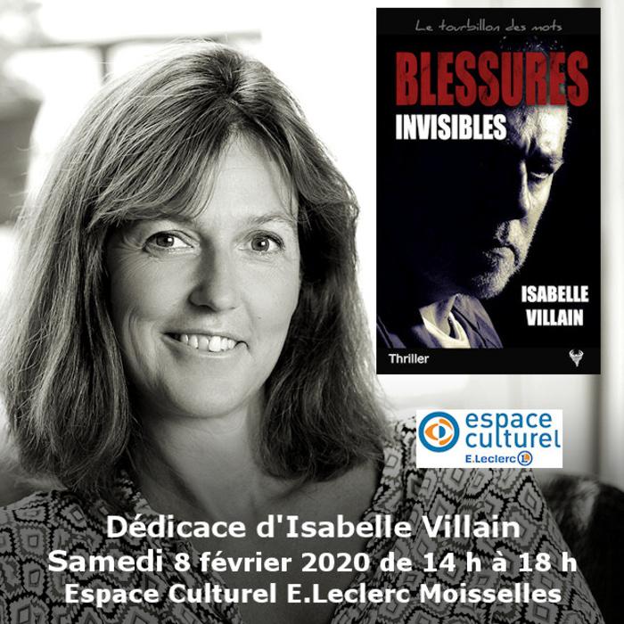 Dédicace Isabelle Villain Espace Culturel E.Leclerc Moisselles 8 février