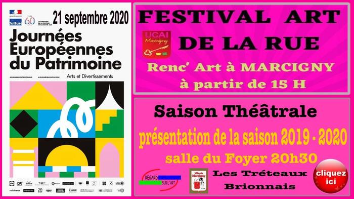 Journées du patrimoine 2019 - Festival art de la rue et théâtre