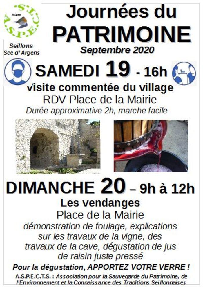 Journées du patrimoine 2020 - visite guidée et
