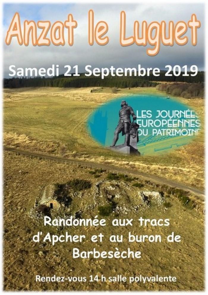 Journées du patrimoine 2019 - Visite du buron de Barbeseche et des tracs d'Apcher