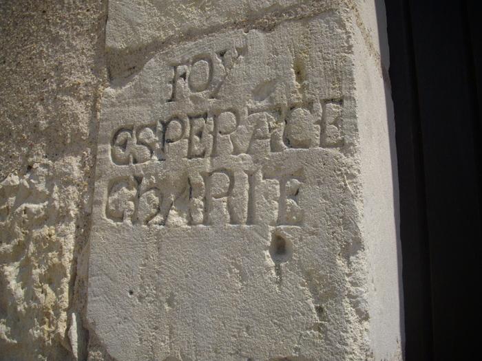Journées du patrimoine 2019 - Découverte d'inscriptions du XVIIe siècle illustrant la période de la contre-réforme.