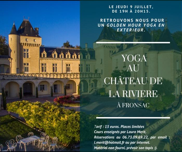 Yoga au Château de La Rivière