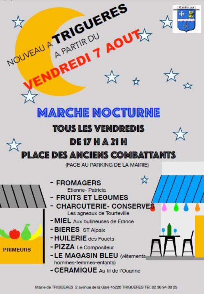 Marché nocturne de Triguères