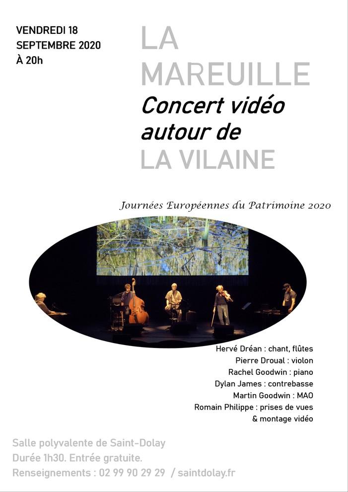 Journées du patrimoine 2020 - La Mareuille, Concert vidéo autour de La Vilaine