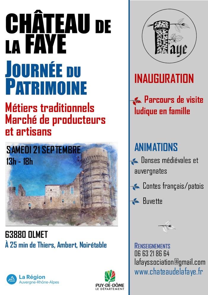 Journées du patrimoine 2019 - Découverte au château de la Faye