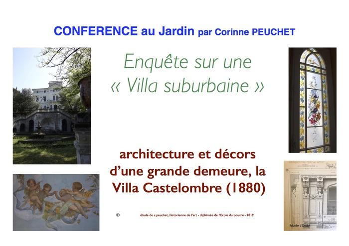 Journées du patrimoine 2020 - Conférence au Jardin de la Villa Castelombre, une enquête en histoire de l'art