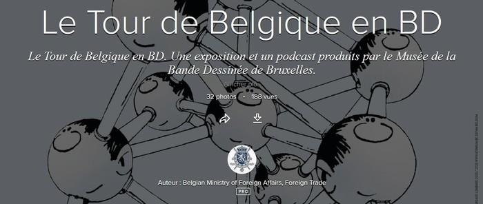 """Exposition virtuelle """"Le Tour de Belgique en BD"""""""