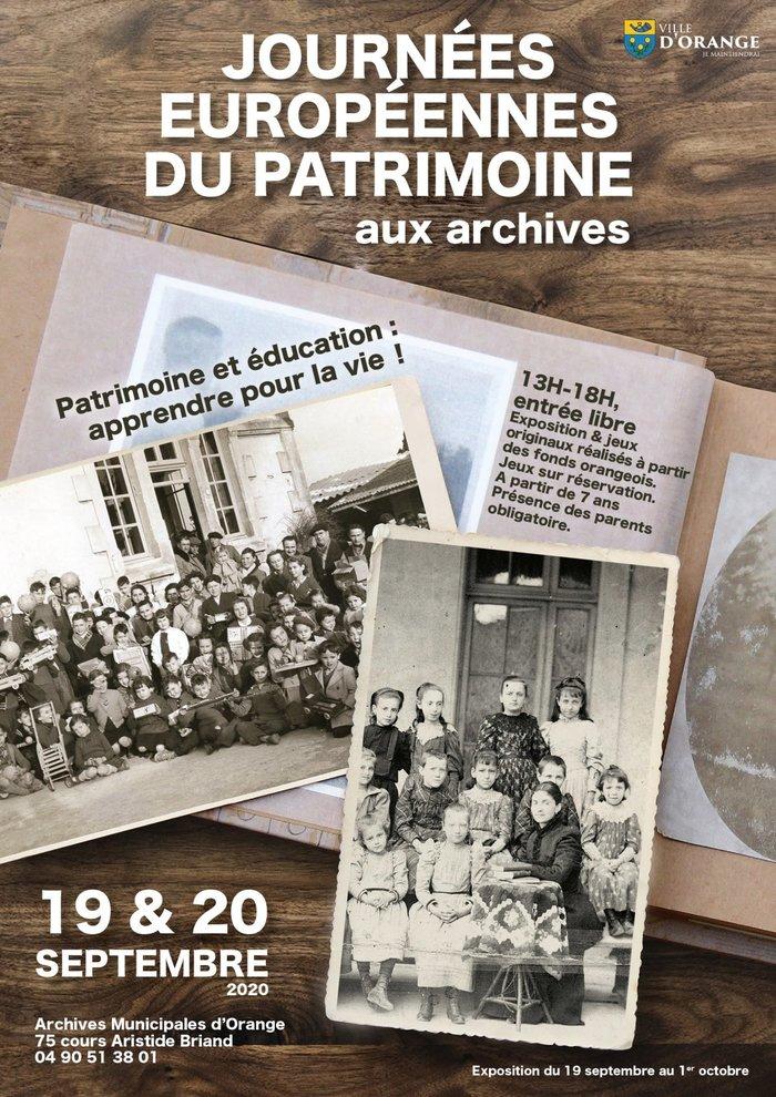 Journées du patrimoine 2020 - Jeux réalisés à partir de documents orangeois archivés
