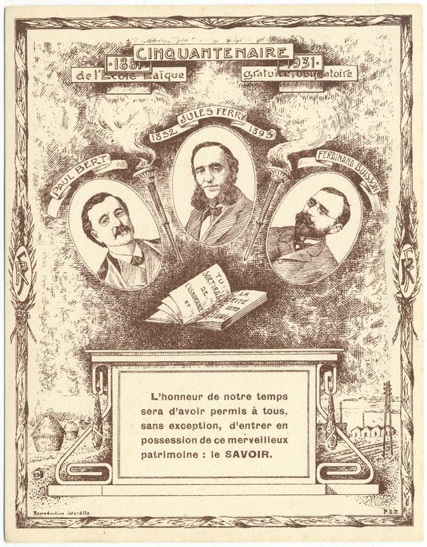 Nuit des musées 2019 -Conférence inaugurale : Les pères du musée pédagogique : Jules Ferry et Ferdinand Buisson