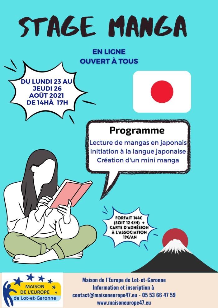 Stage Manga sur la culture et la langue japonaise en ligne avec une formatrice d'origine japonaise