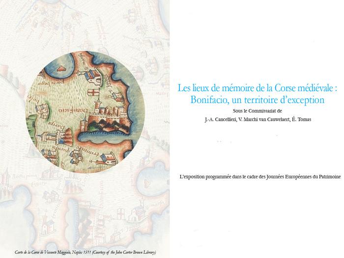 """Journées du patrimoine 2020 - Exposition – """"Les lieux de mémoire de la Corse médiévale: Bonifacio, un territoire d'exception."""""""