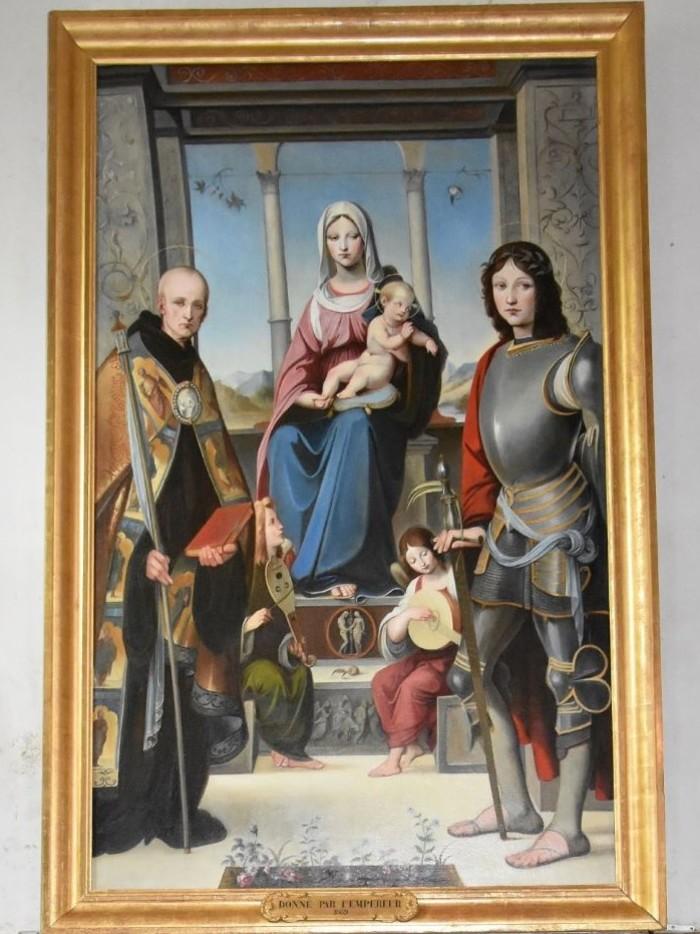 Journées du patrimoine 2020 - Origné, église Saint-Etienne : la restauration du tableau « La Vierge à l'Enfant