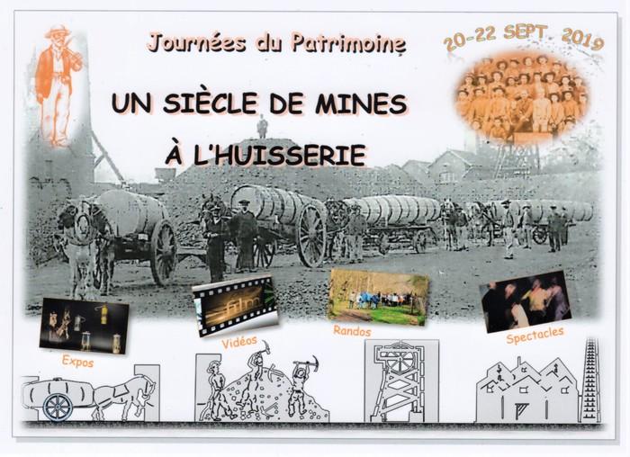 Journées du patrimoine 2019 - Projections de films sur les mines de charbon de L'Huisserie
