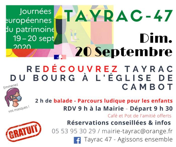 Journées du patrimoine 2020 - Balade ludique pour enfants de l'église Saint-Amans à Cambot - Tayrac 47