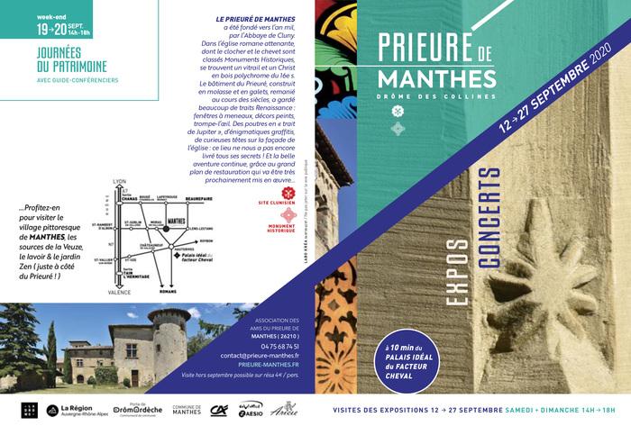 Journées du patrimoine 2020 - visites guidées par des guides-conférenciers du prieuré et de l'église de Manthes