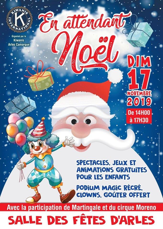 A l'approche des fêtes de Noël, le club Kiwanis Arles-Camargue organise en faveur des enfants, un après-midi récréatif