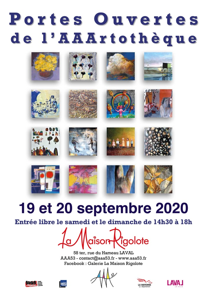 Journées du patrimoine 2020 - Journées du Patrimoine Portes Ouvertes de la Maison Rigolote Exposition d'oeuvres de l'AAArtothèque