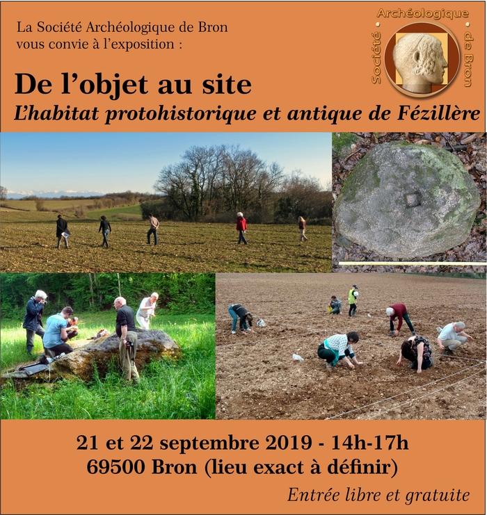 Journées du patrimoine 2019 - De l'objet au site: l'habitat rural protohistorique et antique de Fézillère