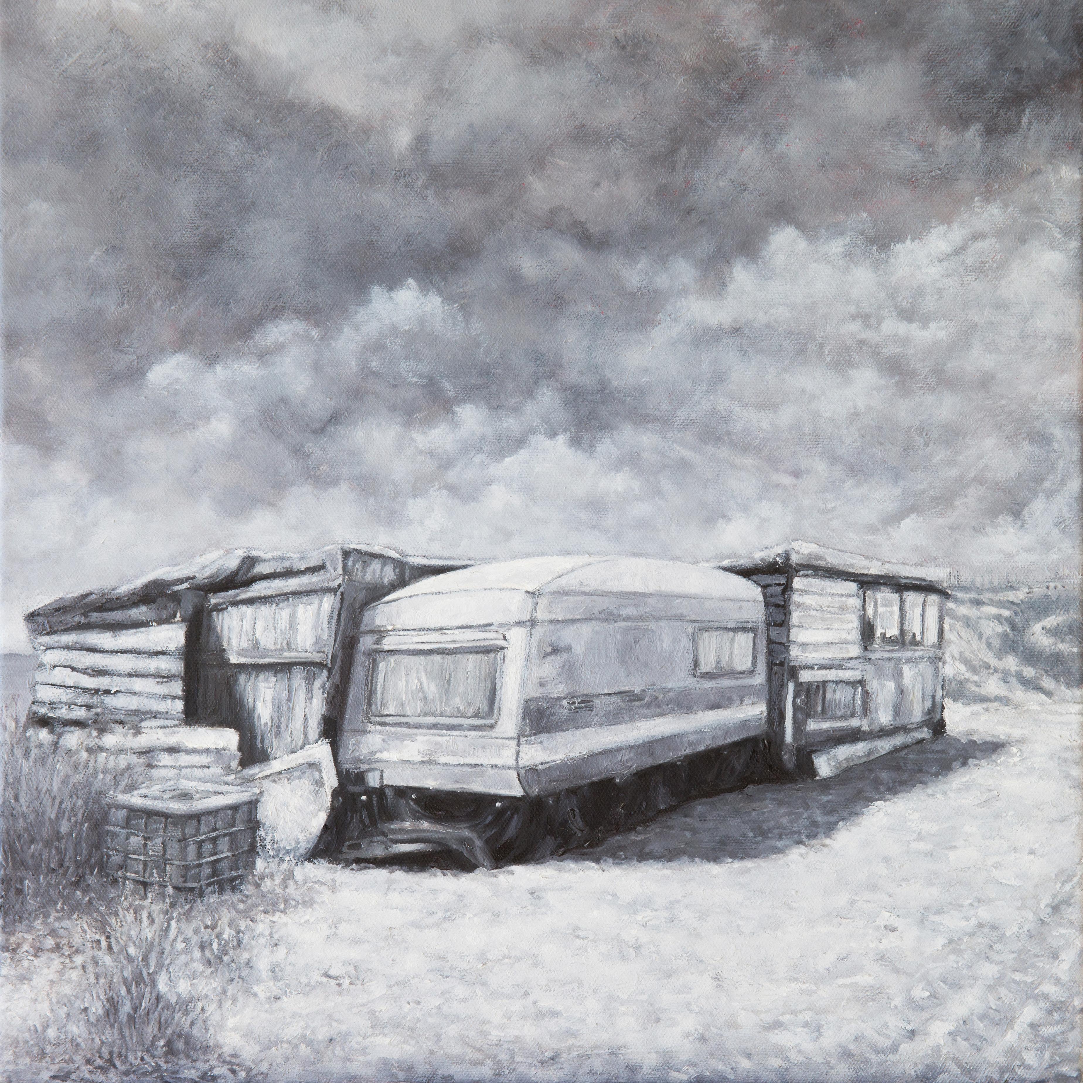 Sébastien Abot nous livre des études - au crayon gras et à l'huile sur carton - d'images mentales, souvenirs de paysages traversés ou échappés d'un rêve.