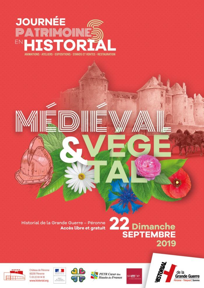 Journées du patrimoine 2019 - PATRIMOINES' EN HISTORIAL - MÉDIÉVAL & VÉGÉTAL