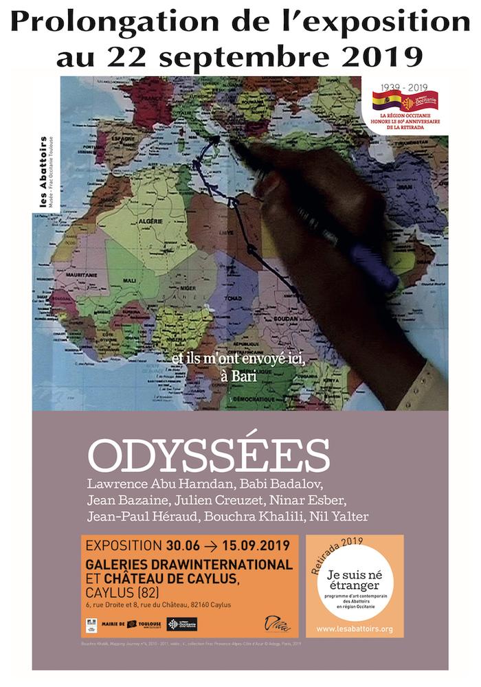 Journées du patrimoine 2019 - ODYSSEES - Parcours d'exposition dans trois lieux de la ville de Caylus, programme d'Art Contemporain des Abattoirs en région Occitanie
