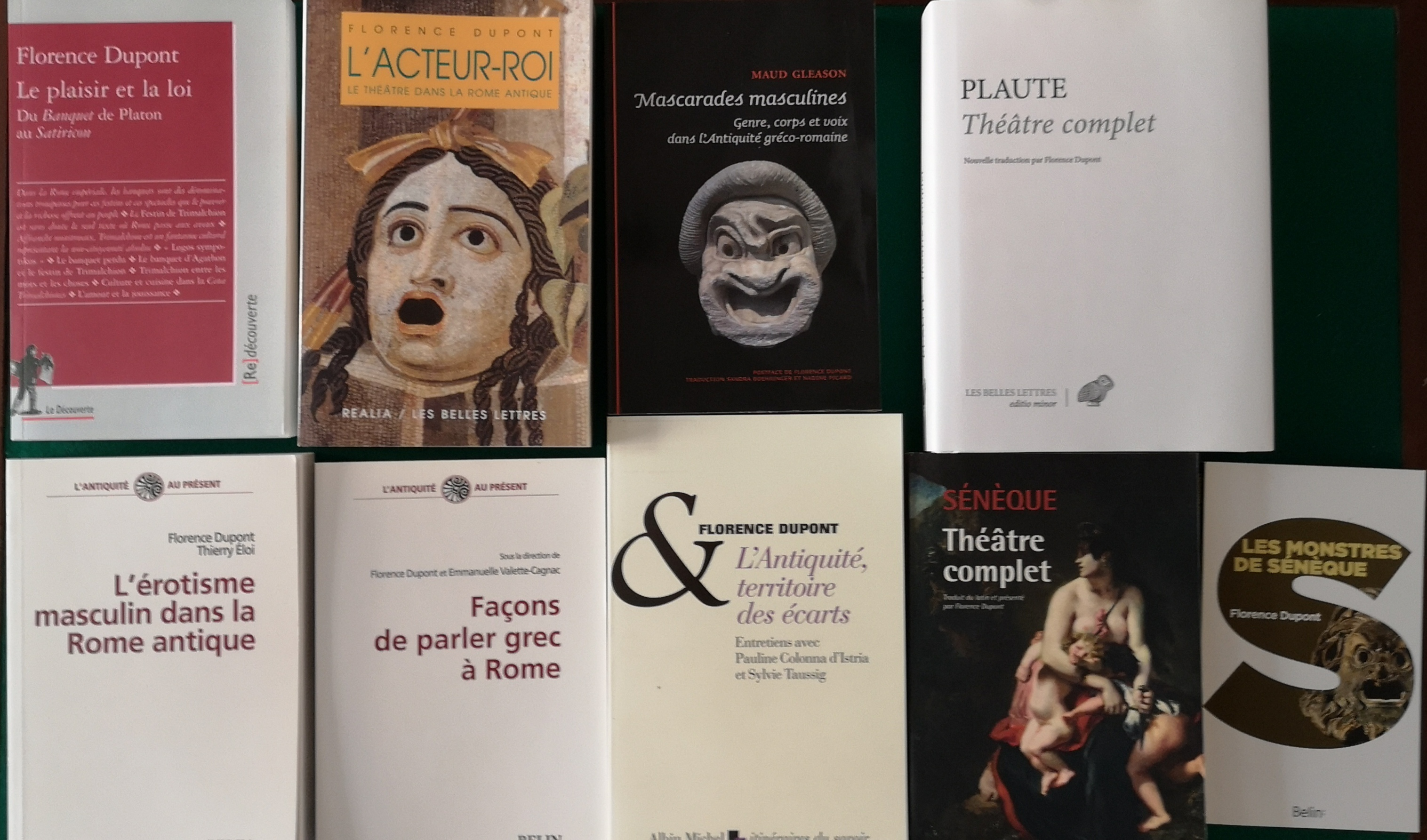 De Natura Rerum reçoit Florence Dupont, agrégée de Lettres classiques et professeur émérite de latin, qui tout au long de sa carrière, a exploré en anthropologue l'Antiquité.