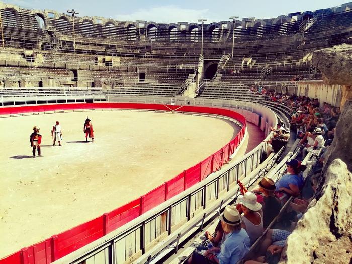 Journées du patrimoine 2019 - Les gladiateurs dans l'amphithéâtre