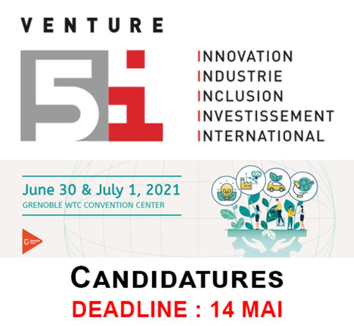 Candidatez à la 24e édition du Venture 5i !