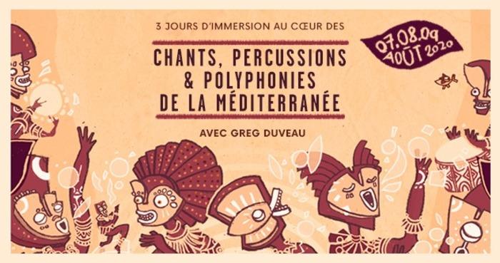 Stage - chants, percussions et polyphonies de la Méditerranée
