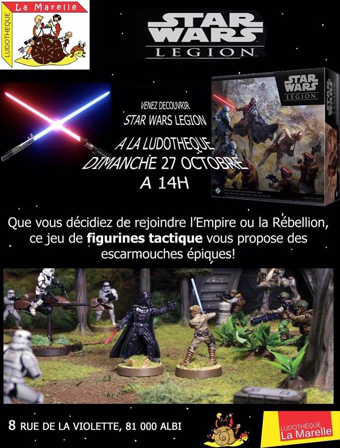 Le dimanche 27 octobre, maître Yoda vient vous initier au jeu de figurine Strar Wars Legion. Novice ou confirmé, la porte vous est grande ouverte !