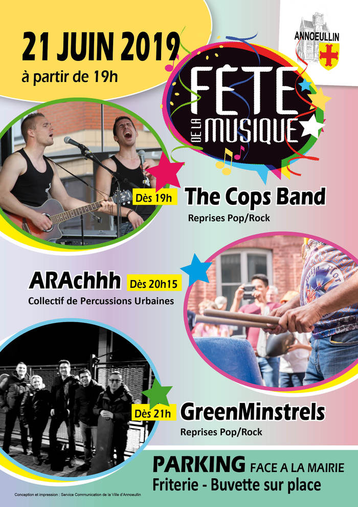 Fête de la musique 2019 - The Cops Band // ARAchhh // GreenMinstrels