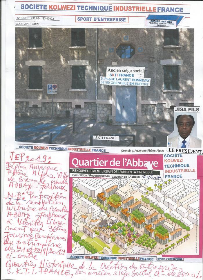 Journées du patrimoine 2019 - Visite libre à l'exterieur de l'ancien siège social historigue s.k.t.i.france.