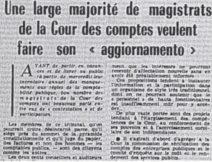 Journées du patrimoine 2019 - « Mai 1968 » à la Cour des comptes
