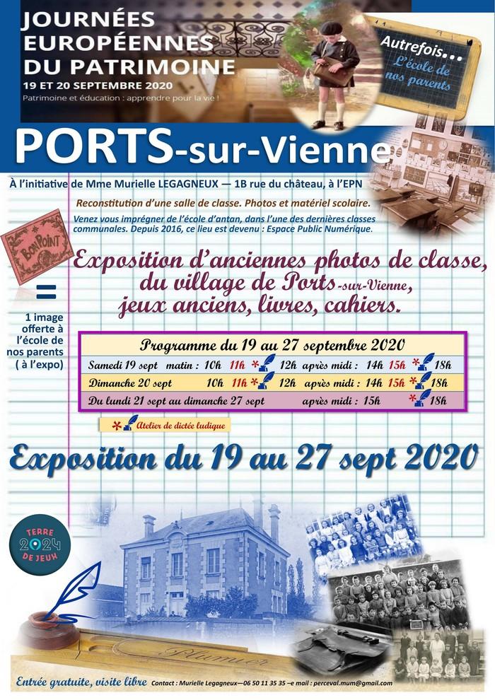 Journées du patrimoine 2020 - Autrefois... l'école de nos parents !