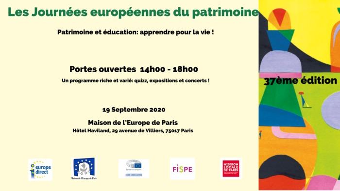 Journées du patrimoine 2020 - Moment convivial pour les Journées européennes du patrimoine à la Maison de l'Europe de Paris